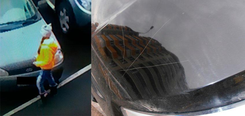В Ижевске на улице Берша девочка поцарапала монеткой 10 машин