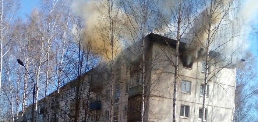В Ижевске на ул. 30 лет Победы загорелась квартира