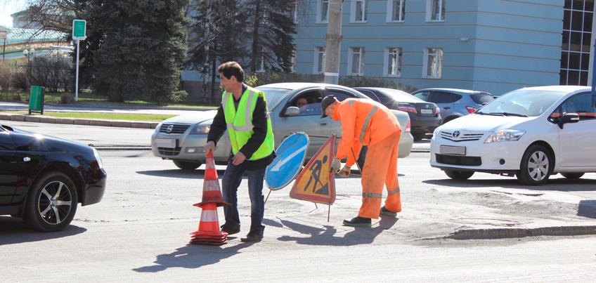 Начался ремонт дороги на улице Пушкинская в Ижевске