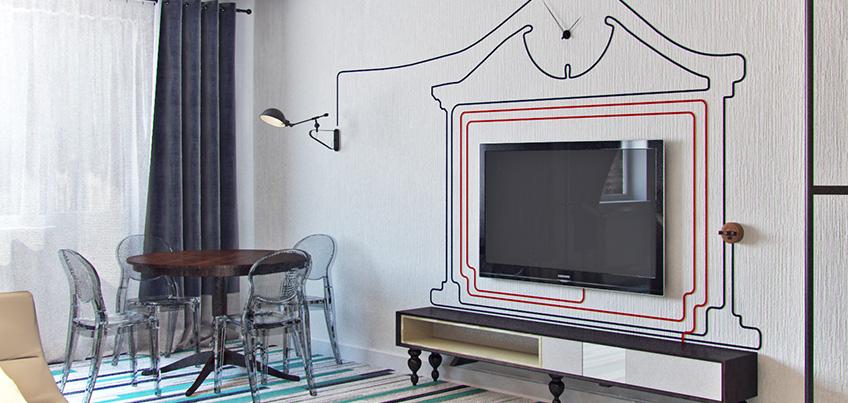 Красивые квартиры Ижевска: интерьер для молодой семьи с элементами стиля «лофт»