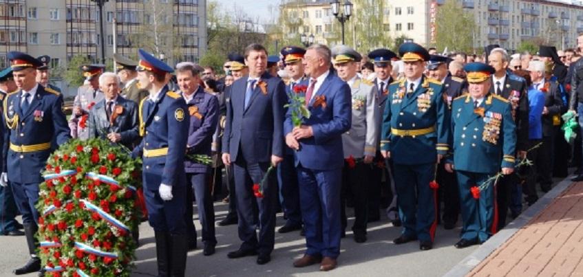 Глава Ижевска принял участие в акции «Бессмертный полк»  с портретом отца-фронтовика