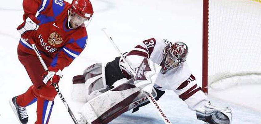 День Победы: Россия обыграла Латвию в матче Чемпионата мира по хоккею
