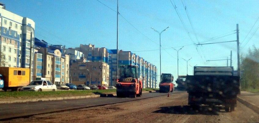 Фото: В Ижевске начали ремонт улиц Карла Маркса и 40 лет Победы