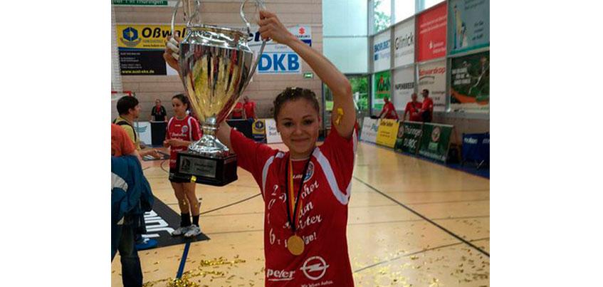 Ижевчанка Наталья Решетникова стала Чемпионкой Германии по гандболу.