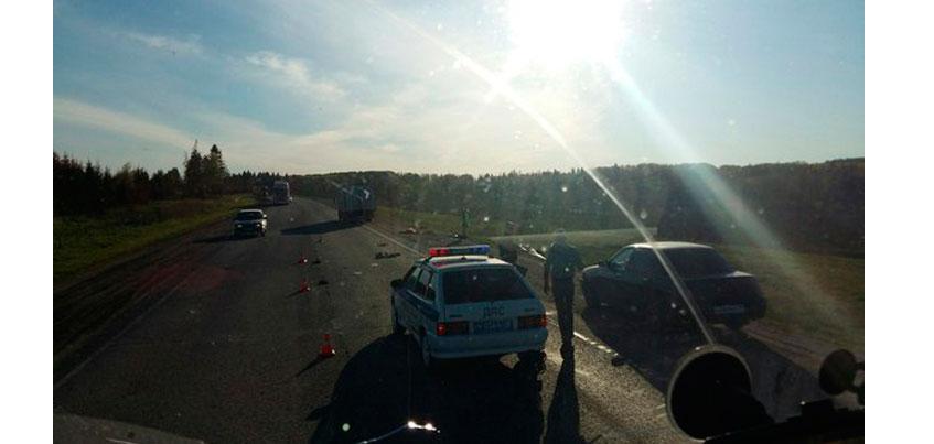 Человек погиб в перевернувшейся машине на трассе Ижевск-Можга в Малопургинском районе