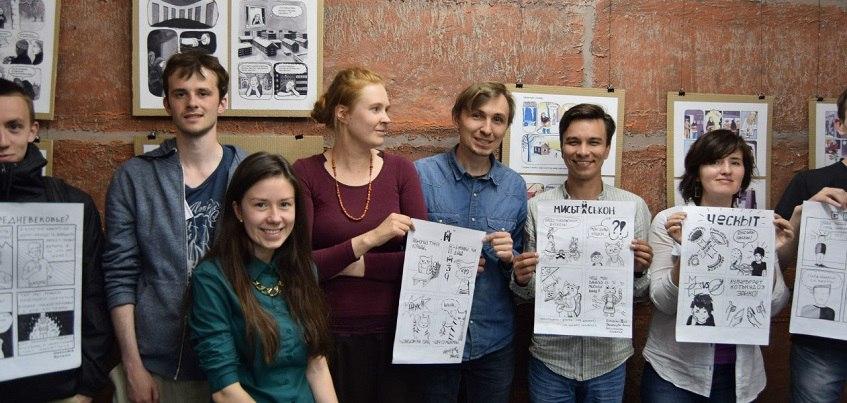 Финская художница научила ижевчан рисовать комиксы на удмуртском языке