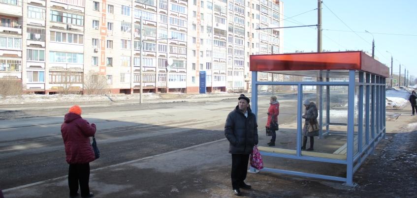 В Ижевске установили три новые остановки общественного транспорта