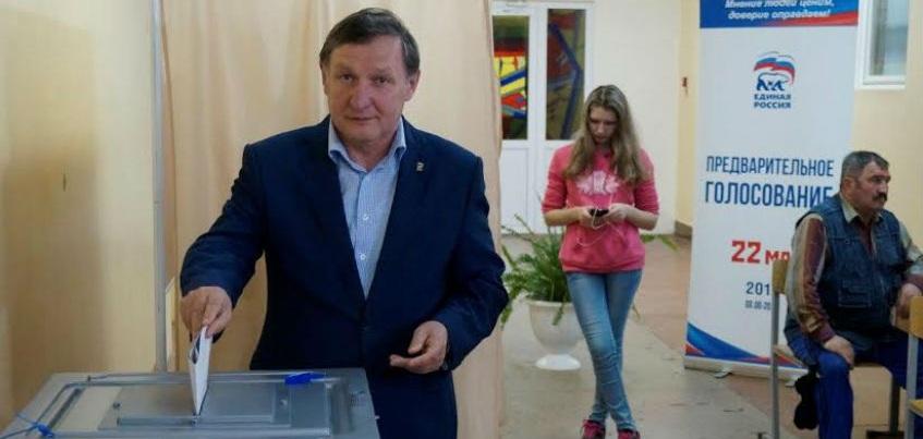 Спикер Госсовета Удмуртии  проголосовал за пятерых участников праймериз «Единой России»