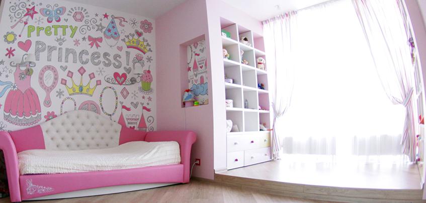 Красивые квартиры Ижевска: интерьер в современном стиле для семьи с двумя детьми