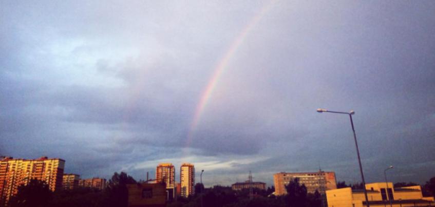 У природы нет плохой погоды: 13 фотографий с двойной радугой и ливнем в Ижевске