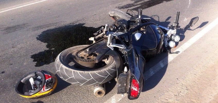 В Удмуртии пьяный мотоциклист врезался в патрульную машину