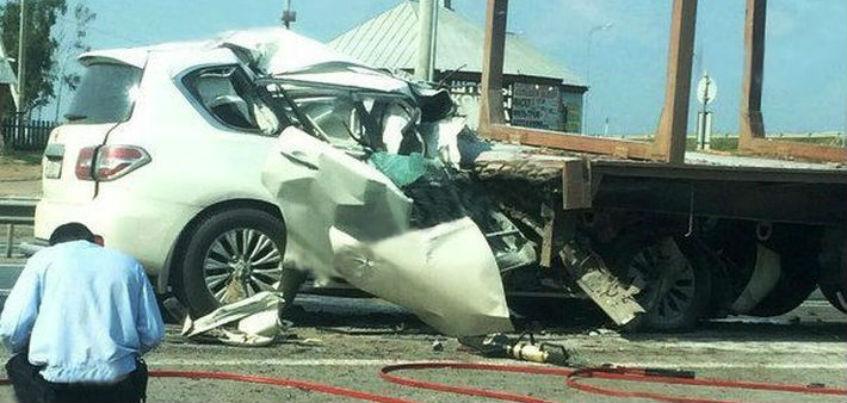 Водитель грузовика «МАН» из Удмуртии попал в ДТП в Татарстане с участием трех автомобилей