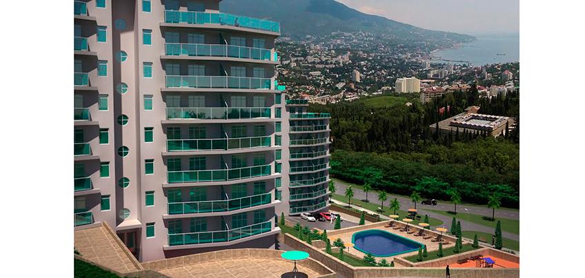 Квартира в Крыму с видом на горы и море