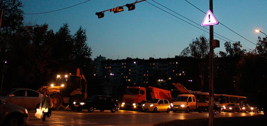 В Ижевске спустя месяц включили фонари на улицах Ленина, Пушкинской и Наговицына