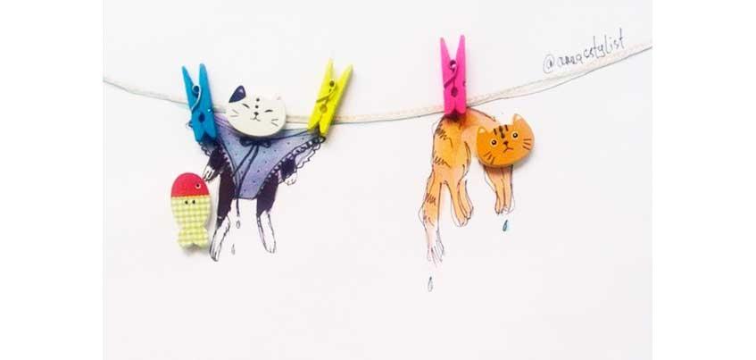Ижевчанка создает прекрасные рисунки с помощью цветов