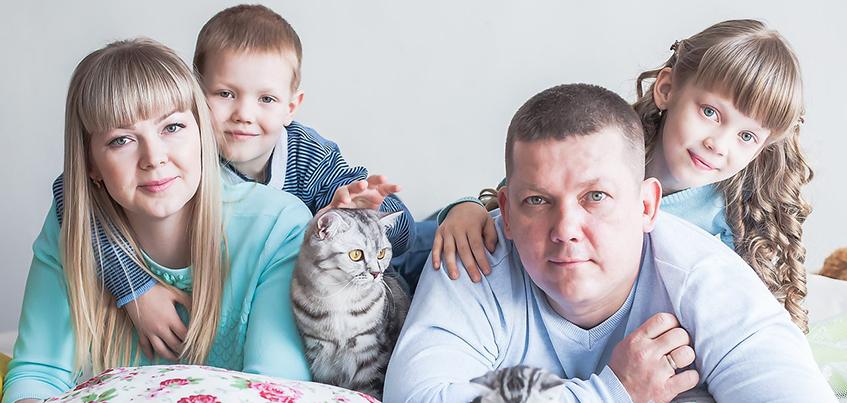 Ижевские семьи, в которых мамы, папы и детки удивительно похожи друг на друга