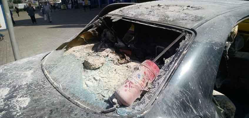 Горевший около ТЦ «Медведь» в Ижевске автомобиль мог взорваться