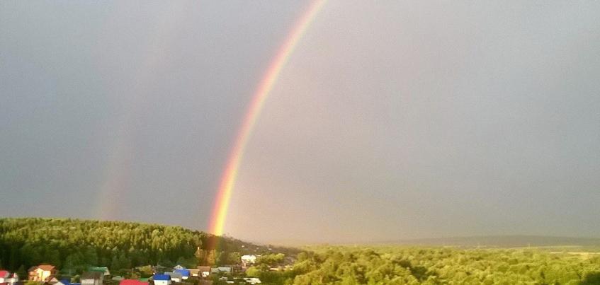16 лучших фото радуги в Ижевске после прошедших на днях гроз