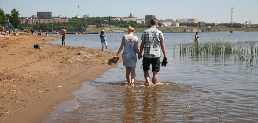 В Удмуртии купаться можно только на Воткинском городском пляже