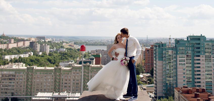 Ижевские молодожены: Первое свидание устроил на крыше 18-этажки
