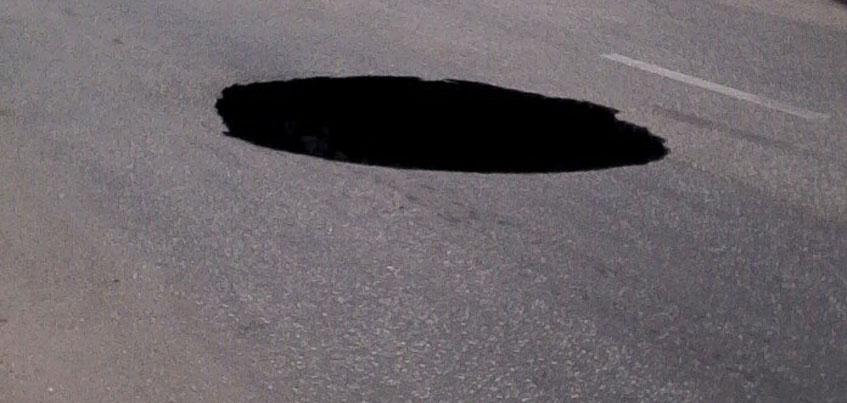 На Автозаводской в Ижевске образовалась большая яма