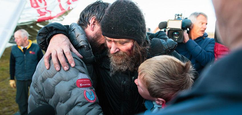 Фоторепортаж: ижевчанин сфотографировал завершение кругосветного путешествия Федора Конюхова