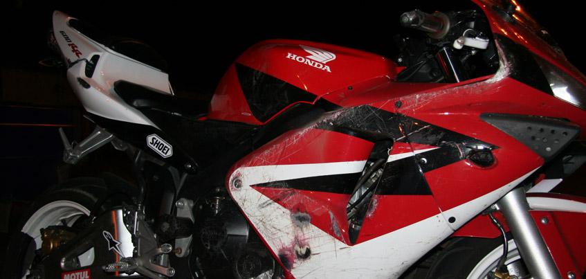 В Ижевске перевернулся 30-летний мотоциклист на «Хонде»