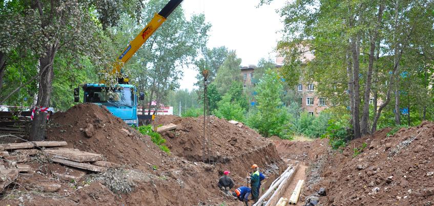 В Ижевске УКС почти закончил ремонтировать теплотрассу у школы 67 и детского сада 230