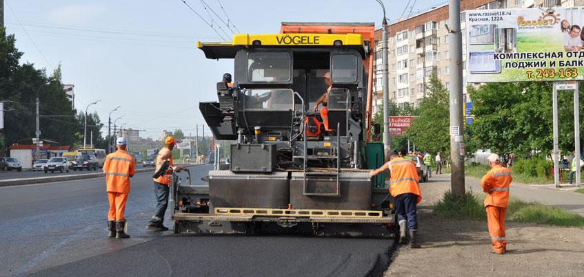 В ближайшие выходные ремонтов дорог на выездах из Ижевска не предвидится