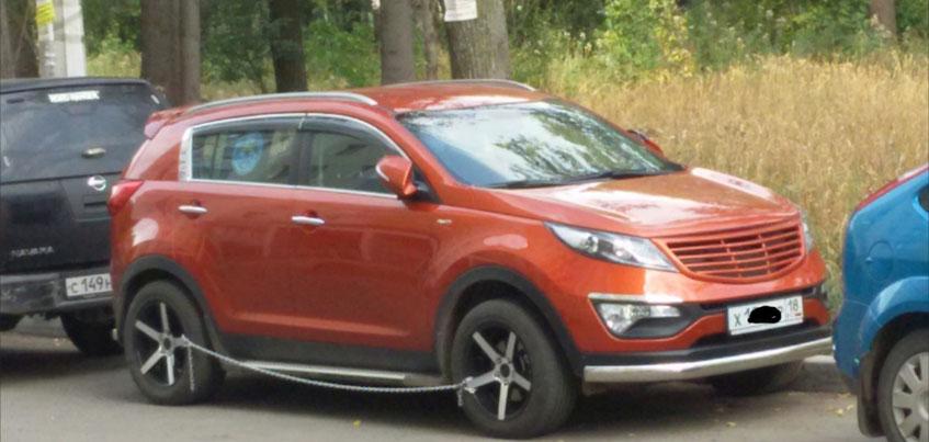 Ижевчанин поставил на свое авто необычное средство против угона