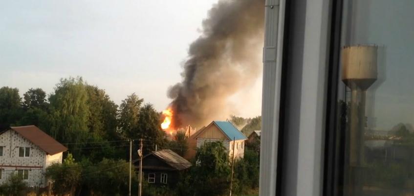 В пригороде Ижевска утром горел частный дом