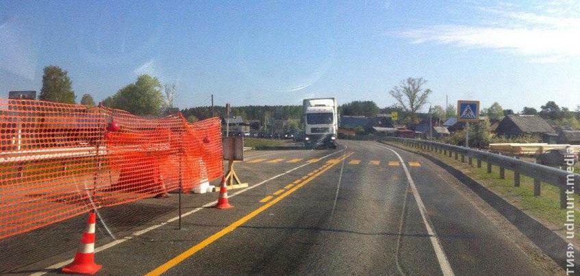 В Удмуртии из-за ремонта моста через Селычку в выходные соберется пробка