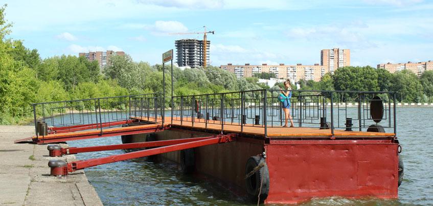 Фото: в Ижевске установили новый плавучий причал