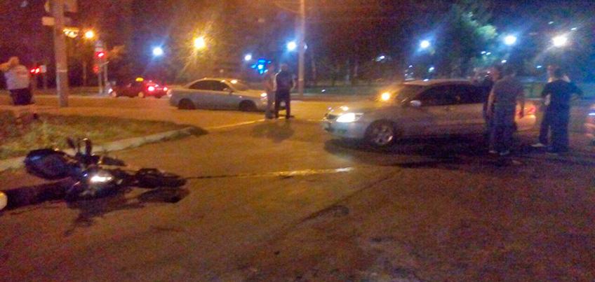 Бывший член ДНД в Ижевске специально сбил мотоциклиста, который ехал без номеров?