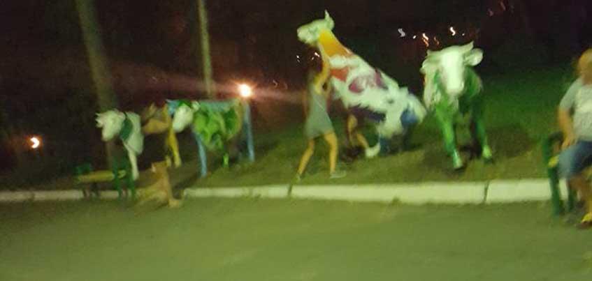 Ночью из ижевского Летнего сада чуть не украли скульптуру коровы