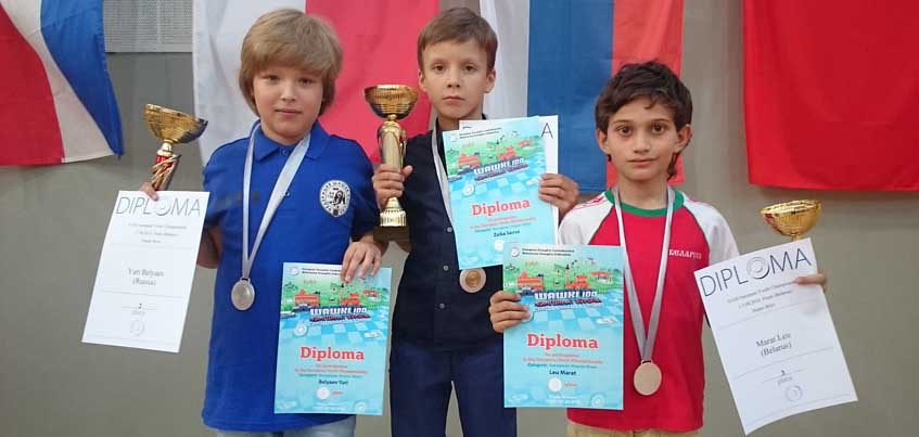 Юрий Беляев из Удмуртии стал серебряным медалистом чемпионата Европы по шашкам среди детей до 10 лет