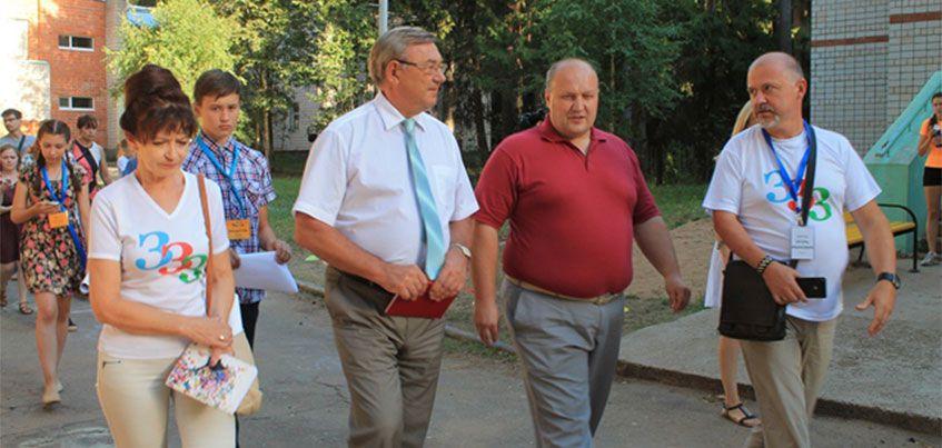 Глава Ижевска встретился с участниками деловой игры в ДОЛ «Дружба»