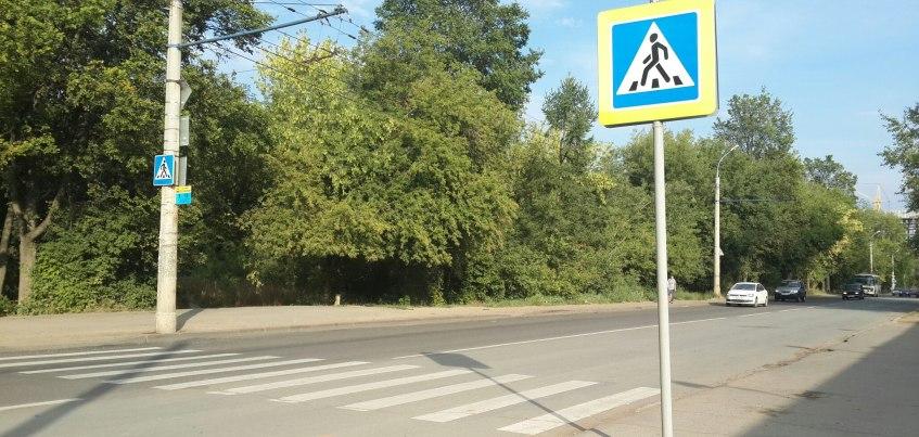 В Ижевске на перекрестке улиц Баранова и Новой появился пешеходный переход