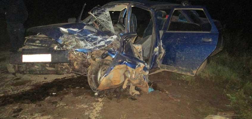 В Балезинском районе Удмуртии в ДТП с такси пострадало 4 человека