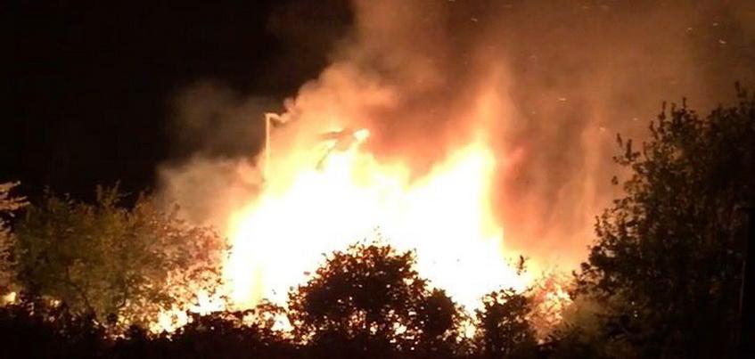 В Завьяловском районе Удмуртии в СНТ «Мрия» сгорел дом
