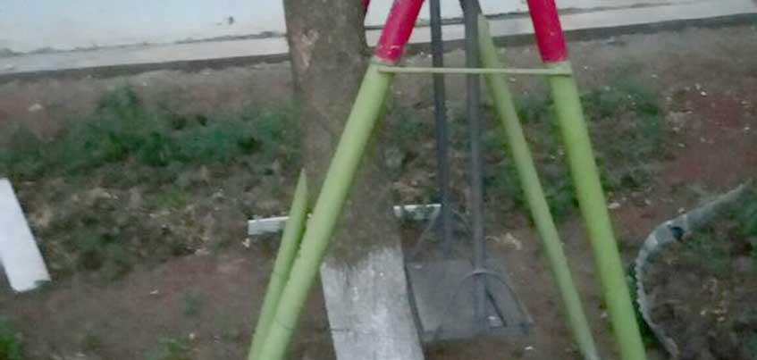 В Удмуртии сарапульчанам предложили проверить себя на прочность на детской площадке