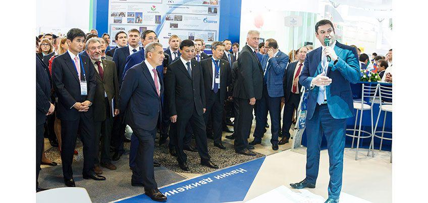 Президент Республики Татарстан Рустам Минниханов посетил выставочную экспозицию ПАО «Транснефть»