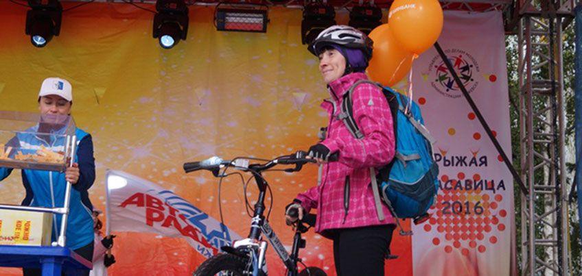 В Ижевске на велопараде «Рыжие на колесах» разыграли велосипед