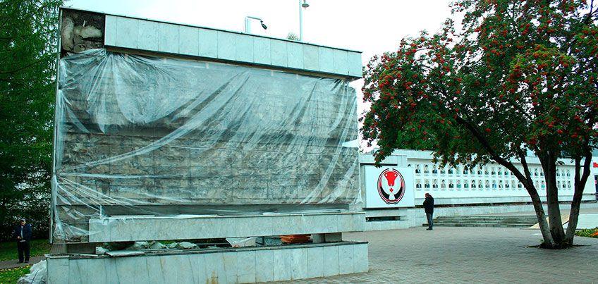 Доску Почета на центральной площади Ижевска начнут ремонтировать, когда позволит погода
