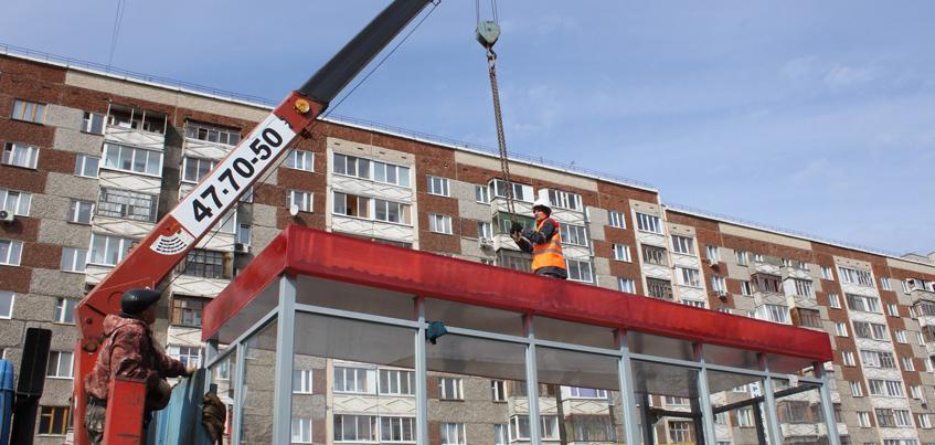 В Ижевске уже установили 48 остановочных комплексов