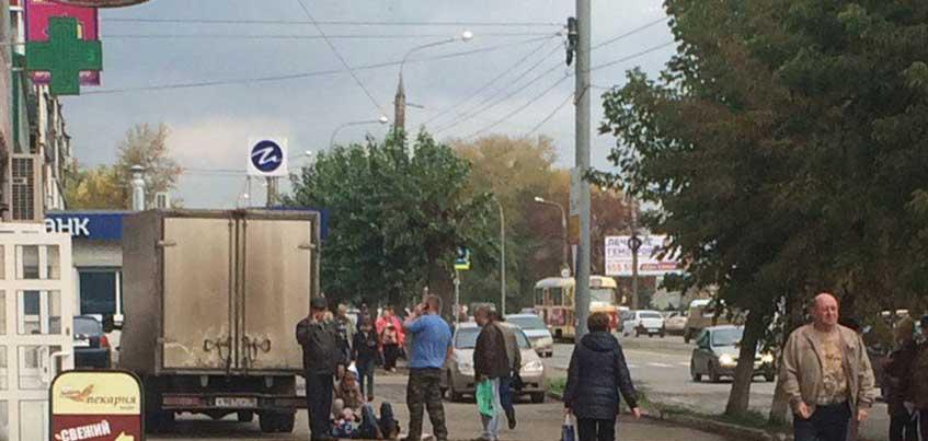 В Ижевске «Газель» сбила пешехода на тротуаре