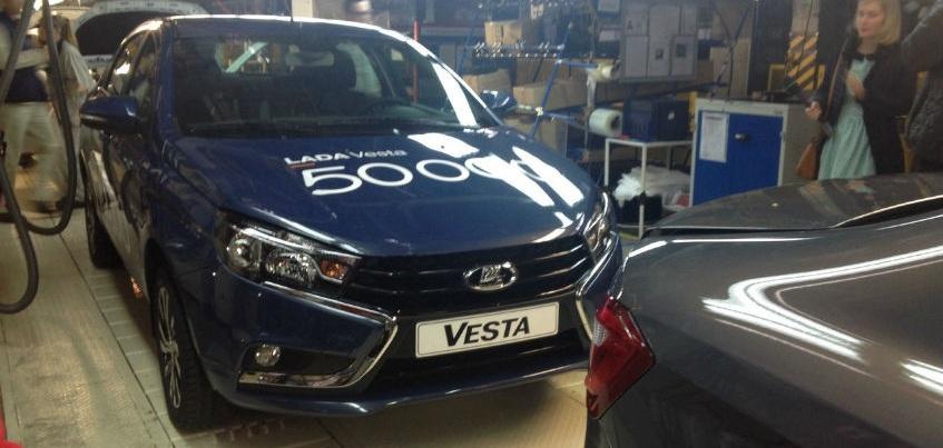 50-тысячная LADA Vesta Ижевского автозавода будет цветом «синий блюз»