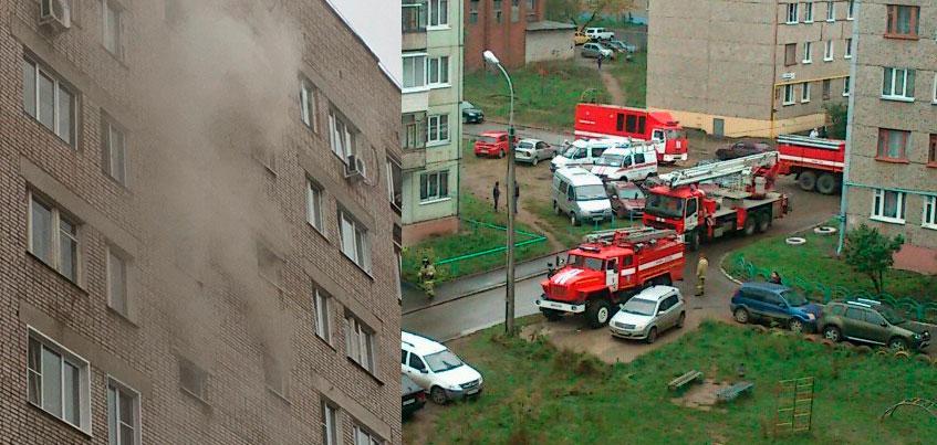 В одной из многоэтажек на улице Клубной в Ижевске загорелись электрощитки