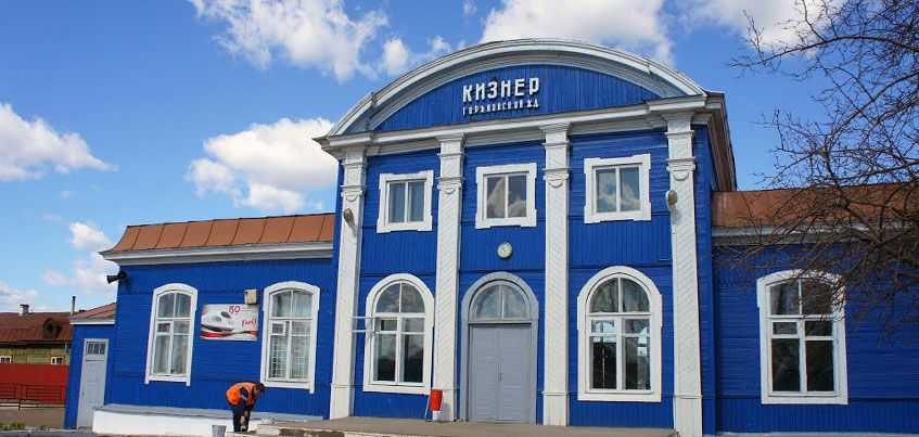 В Кизнере произошло возгорание на железнодорожной станции