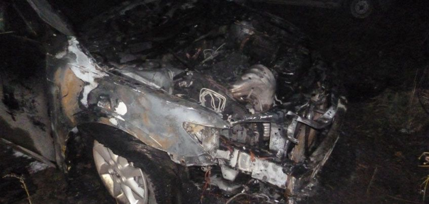В Ижевске на улице Пушкинской загорелся автомобиль